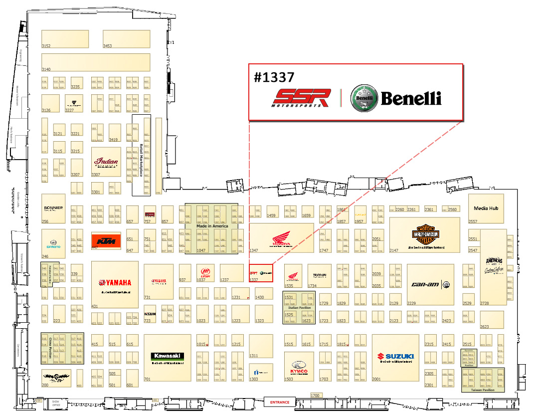 Check the map below for our booth location: