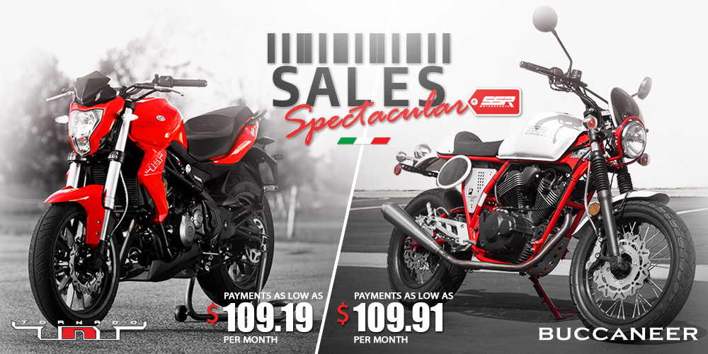 Special Finance Offers on Benelli TnT300 and TnT600 and Buccaneer Cafe and Classic