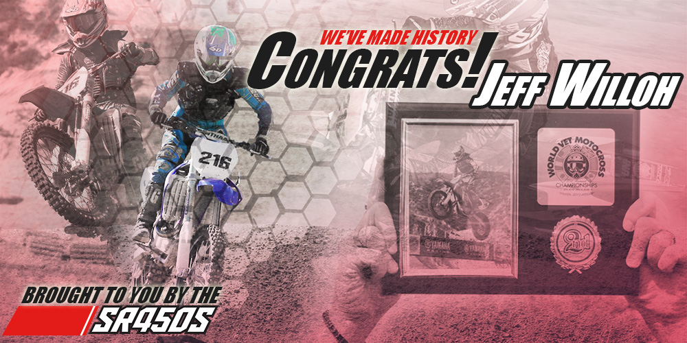 JEFF WILLOH TAKES 2nd @ THE GLEN HELEN WORLD VET CHAMPIONSHIP