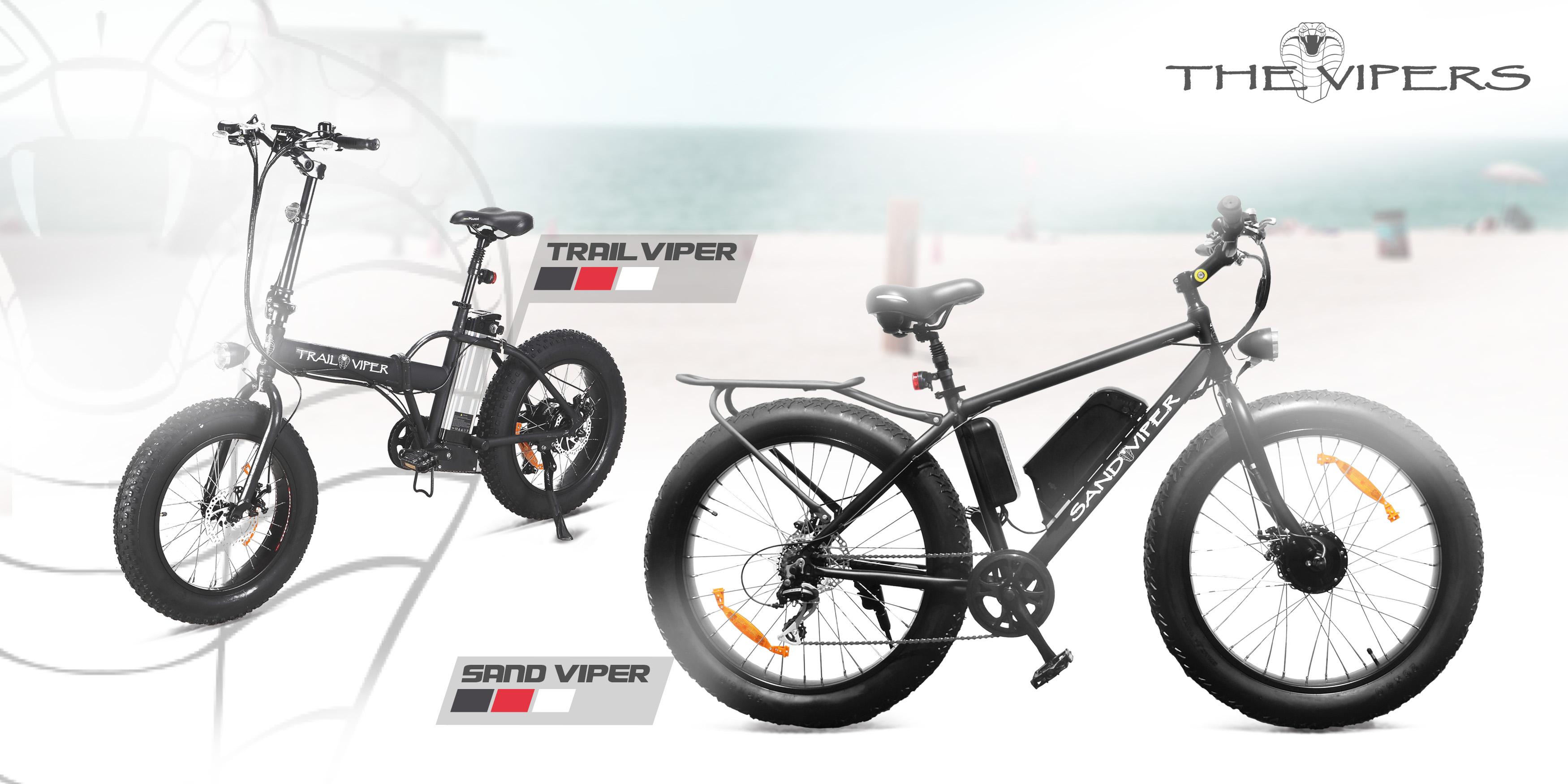 E-bikes - Sand Viper & Trail Viper