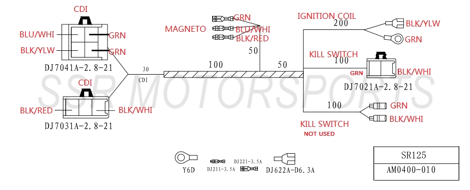 five wire cdi diagram whizzer wiring diagram motored bikes motorized wire diagram sr125 6 wire cdi diagram